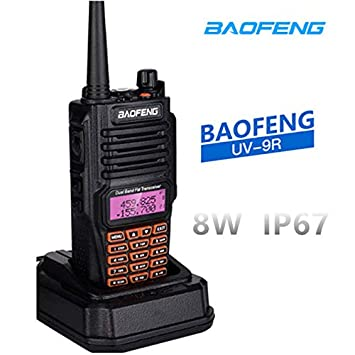 radtel Baofeng UV-9R Walkie Talkie Radio BF-UV9R IP67 Waterproof Dual Band Ham Radio 8W UV 9R