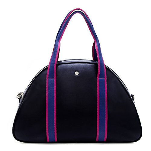 The Lovely Tote Co. Women's Vegan Leather Double Handle Gym Bag Double Handle Tote Bag