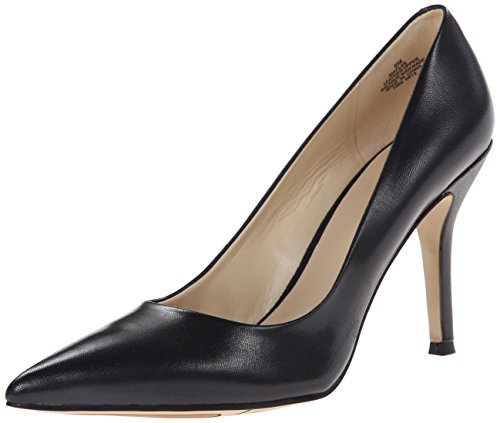 Nine West Women's Flax Synthetic Dress Pump, Navy, 8 M US (Navy Pump Shoes)