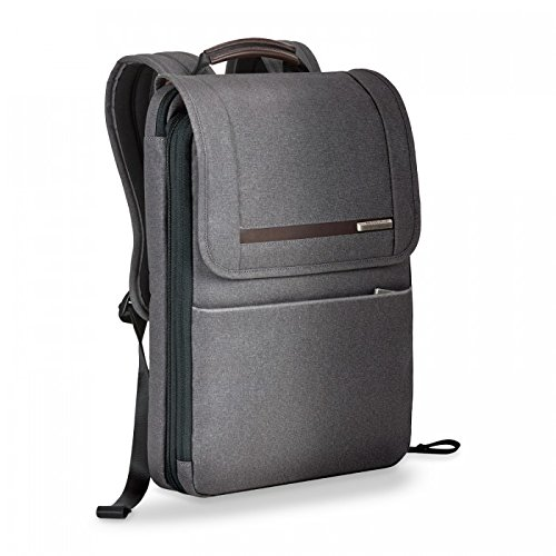 41W8N7zq yL - Briggs & Riley Kinzie Street - Small Flapover Expandable Backpack, Grey, One Size