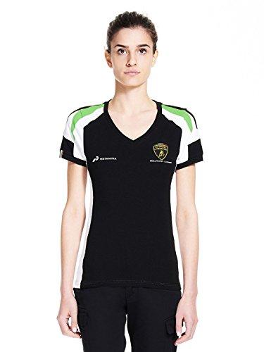 LAMBORGHINI Automobili Squadra Corse Women's T-Shirt, Black (XL) - Michael Schumacher T-shirt