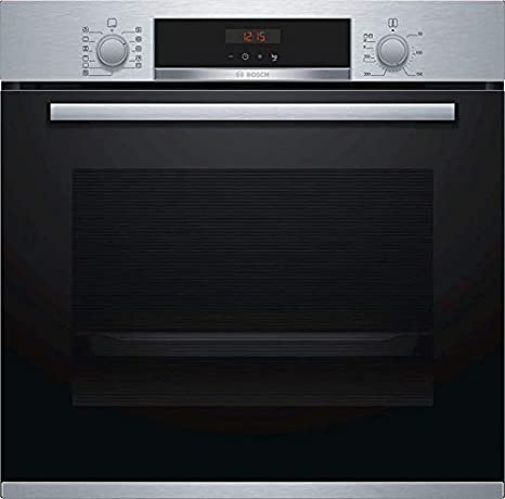 Bosch 71- Litre Built Digital Oven | 3D Hot AIr For Optimal Distribution Of Heat On Upto 2 Levels Simultaneously | Digital Display With Electron