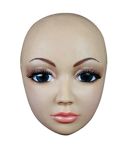 (MOPPET SH-4 Silicone mask Cross dressing Halloween simulation Beauty Makeup Mask female mask latex halloween)