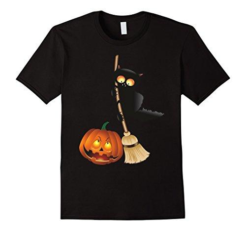 Mens Happy Halloween T-Shirt Funny Halloween Gift Idea TShirt XL Black -