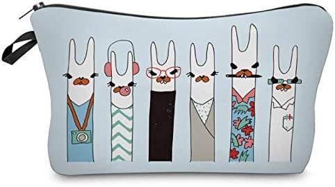 Bleu Leger Freesiom Trousse Maquillage Cosm/étique Femme Fille Animaux Sac A Main Originale Organiseur Sac Voyage Fourniture Scolaire Kawaii Trousse Decole Pas Cher Cadeau