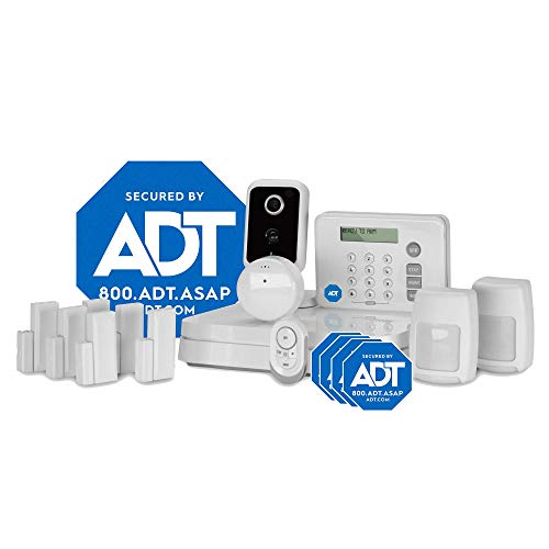 ADT DIY LifeShield 15-Piece Easy, Smart Home Security System - Optional 24/7 Monitoring - Smart Camera - No Contract - Wi-Fi Enabled - Alexa Compatible