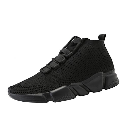 Mevlzz Mens Casual Athletic Sneakers Knit Running Shoes Tennis Shoe for Men Walking Baseball Jogging Full Black46