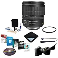Canon EF-S 15-85mm f/3.5-5.6 USM IS Image Stabilized AF Lens Kit, U.S.A. - Bundle with 72mm UV Wide Angle Filter, Lens Cleaning Kit, Flex Lens Shade, Lens Wrap (15x15), Capleash II, Pro Software Pack