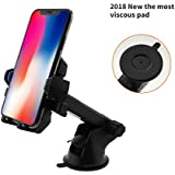 Car Phone Mount,XRXD Car Mount Washable Strong Sticky Gel Pad with One-Touch Design Dashboard Car Phone Holder for iPhone X/8/8Plus/7/7Plus/6s/6Plus/5S, Galaxy S5/S6/S7/S8, Note 8, LG (blueness)