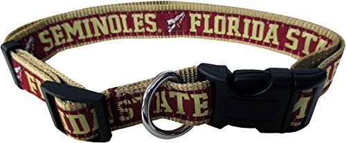 Pets First Collegiate Pet Accessories, Dog Collar, Florida State Seminoles, Large
