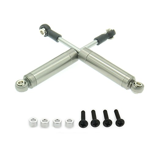 RCAWD 82mm Internal Spring Shock Absorber Damper F75001 Aluminum Alloy Compatible with Rc Car 1/10 Crawler Truck Upgraded Hop-Up Parts HPI HSP Losi Axial Tamiya 2Pcs(Titanium)