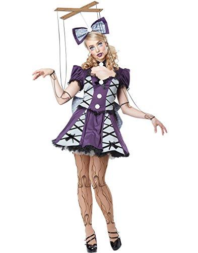 [California Costumes Women's Marionette, Eggplant/Silver, Medium] (Doll Costume Tights)