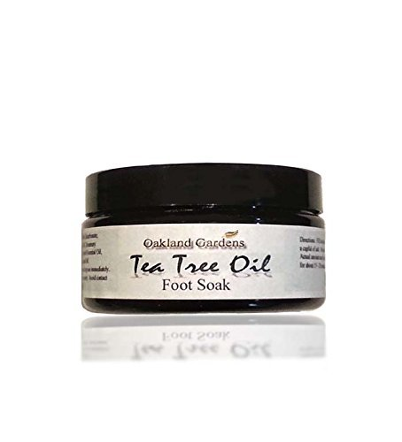 Tea Tree Oil Foot Soak With 100% Pure Dead Sea Salt, Tea Tree, Chamomile, Rosemary, Eucalyptus, Spearmint, Peppermint, & Lavender Essential Oils To Help Soak Away Athlete Foot, Nail Fungus & Related Foot Odor - 8 oz By Oakland Gardens