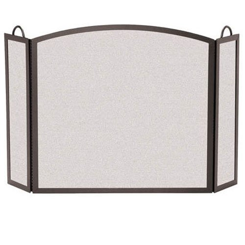 3 Panel Hinged Fireplace Screen (8 in. L x 26 in. H - Burnished Bronze) ()
