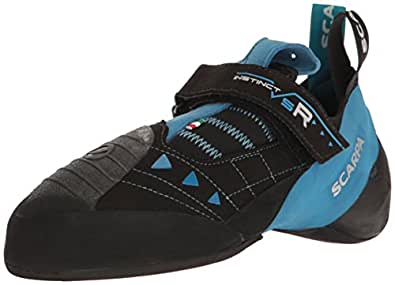 SCARPA Instinct VSR Climbing Shoe, Black/Azure, 35 EU/3.5 M US