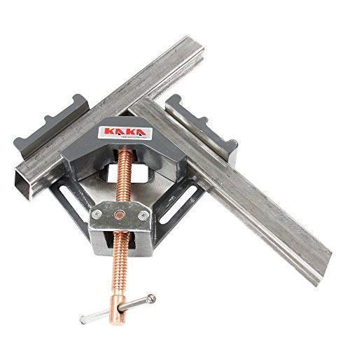 KAKA AC-100 Angle Clamp, Solid Construction, 90 Degree Welding Angle Clamp, Heavy-Duty Cast-Iron Angle Clamp Vice by KAKA INDUSTRIAL (Image #2)