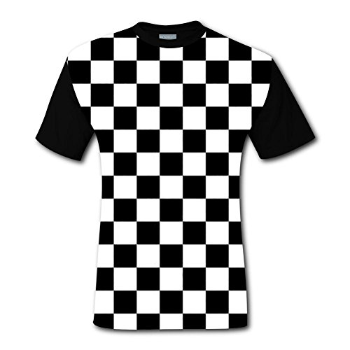 Flag Shirts Checkered (enrgbnhzad 321 Men's Casual Graphics Black & White Racing Checkered Flag 3D Printed T-Shirts Short Sleeve Tops Tees XL)