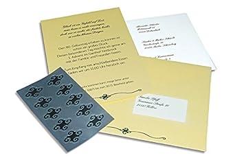 Einladungskarten Set U0026quot;Ornamentu0026quot; Zur Hochzeit, Geburtstag,...