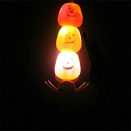Halloween Horror Toy Magic Pumpkin Wand Lamp With Sound Effect by 24/7 store