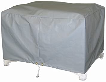 Protective Covers Weatherproof Ottoman Cover, Large, Gray Part 45