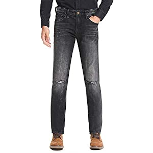 Men's Relaxed Fit Jean Classics Mid Rise Straight Leg Stretch Denim