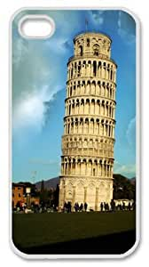 Iphone 4 4s PC Hard Shell Case Leaning Tower White Skin by Sallylotus