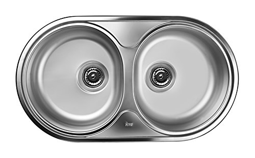 Teka Edelstahl Küchenspüle Spültisch / becken Einbauspüle mit zwei Becken, DR - 78 2C MTX