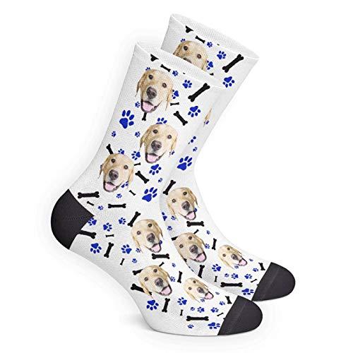 - MY PHOTO SOCKS Custom Print High Crew Personalized Socks Gift for Women Men