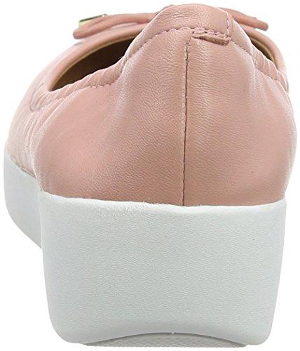 Ballerinas Bailarinas con Pink Superbendy color punta cerrada rosa Fitflop oscuro Ballet wqE67xFrwP