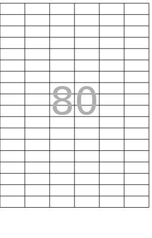 100x DIN A4 Etiketten Klebeetiketten selbstklebend Bögen weiß Größe 45,7x21,2 mm