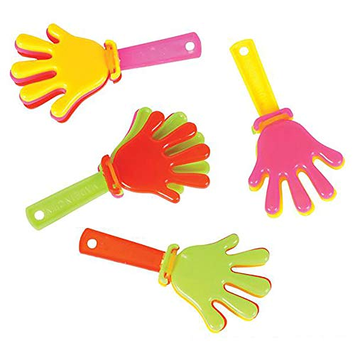 """(3"""" Hand Clappers - Hand Bangers, 144 Pack of Hand Applauding, Noisemaker Toy for Game Event, Christmas Present, Party Favors, Easter Hunting, Event)"""