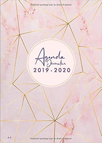 Amazon.com: Agenda Journalier 2019 2020 A5: Juillet 2019 à ...