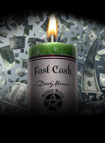 Wicked Witch Mojo Fast Cash Candle by Dorothy Morrison Coventry Creations WWM-FC
