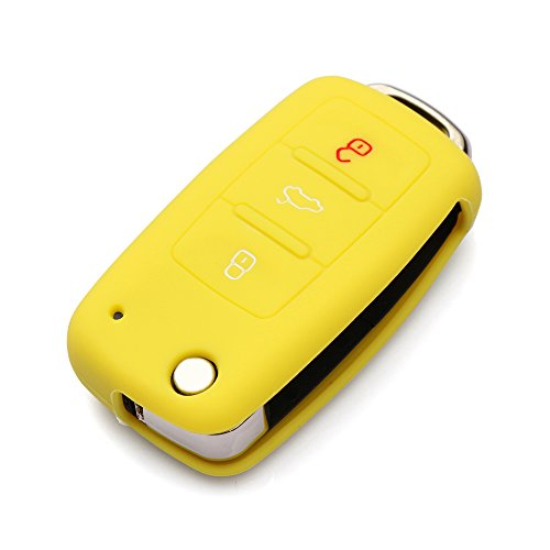 licone Key Cover Keyless Entry Remote Fob Shell Fit For VW Volkswagen 3 Button ()