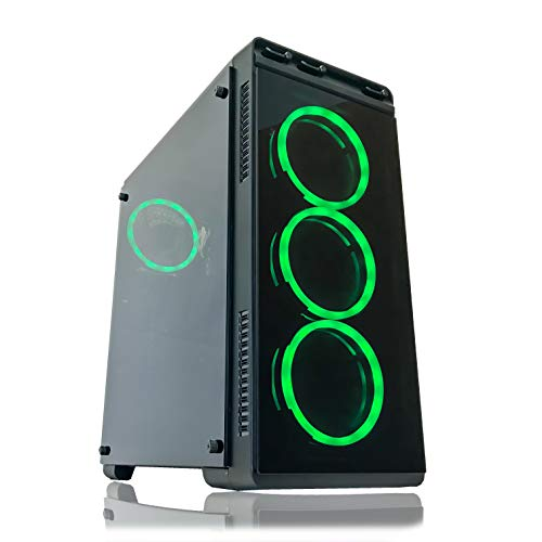 Gaming PC Desktop Computer by Alarco Intel i5 3.10GHz,8GB Ram,1TB Hard Drive,Windows 10 Pro,WiFi Ready, Video Card Nvidia GTX 650 1GB, 4 RGB Fans. Pre-Built and Ready for Gaming, Plug and Play. 8