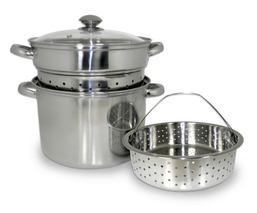 8 QT 4 Piece Stainless Steel Multi-Cooker 4 Piece Multi Cooker