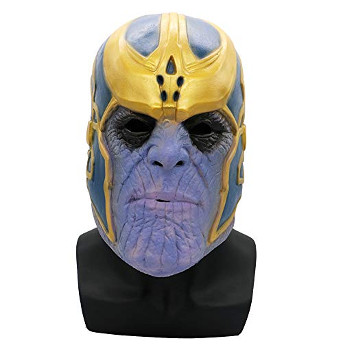 Thanos Deluxe Latex 3D Mask Avengers Cosplay Adult