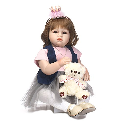Pursue Baby 27 Inch Collectible Baby Doll That Look Real, Realistic Lifelike Poseable Baby Princess Doll Anna with Matching Outfits