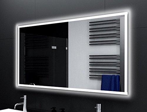 Breite 180 cm x Hoehe 70 cm Badspiegel VITTORIA Glaswerk24 mit A++ LED Beleuchtung - (B) 180 cm x (H) 70 cm - Made in Germany - TIEFPREIS Technik 2019 Badezimmerspiegel Wandspiegel Lichtspiegel rundherum beleuchtet Bad Spiegel