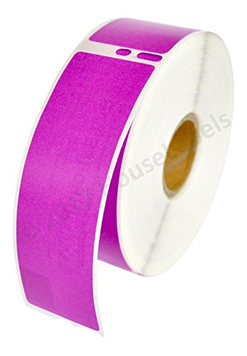 1 Roll; 350 Labels per Roll of DYMO-Compatible 30252 Purple Address Labels (1-1/8 x 3-1/2) - BPA Free!