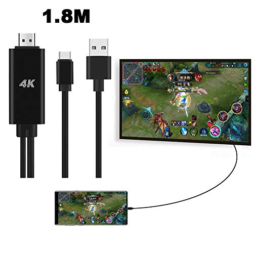 (Chiccc USB-C to HDMI Adapter,Type-C to HDMI 4K Cable HDTV TV Digital AV Adapter for Samsung Galaxy S8/Note 9/Note 8)