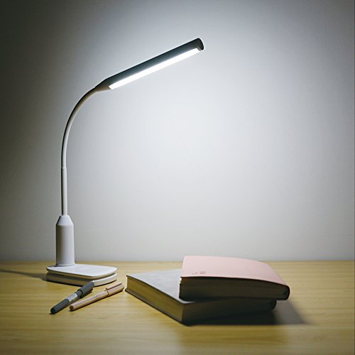 Suyumee Clip on Lamp LED Reading Light 3 Modes Dimmerable with USB Rechargeable Battery Color Changeable,Touch Sensor,for Desk, Bed Headboard and Computers