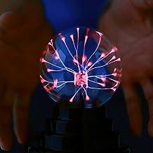 Night light 3 inch usb magic static ball glass ball LED ion ball light button lightning ball night light magic lamp magic ball atmosphere ion lamp gift energy saving