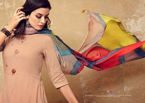Indian Sera Long 7519 Indossare Con Designer Da Cream Party Multicolore Pronto Dupatta Abito Kurta Beige Indumento qSORqxYP