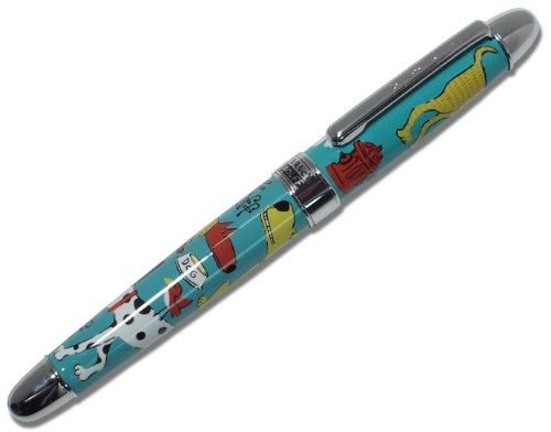 ACME Studios Standard Rollerball Pen Dogs, TealRed/Yellow (PNW02R)