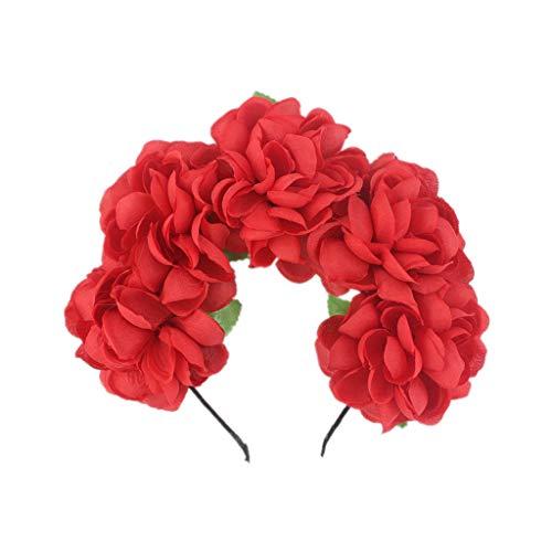 Arystk Womens Headband Adjustable Flower Hair Wreath Floral Garland Crown Headpiece -