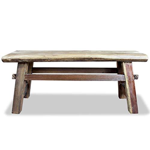 Festnight Vintage Wood Dining Bench, Antique Handmade Garden Dining Bench Furniture Solid Reclaimed Wood by Festnight (Image #1)