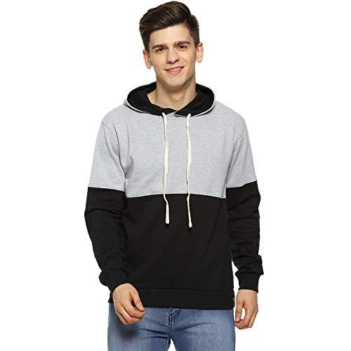 Campus Sutra Men's Cotton Solid Hoodie