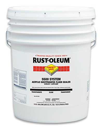 RustOleum 251283 Concrete Saver 5500 System Acrylic Dust Proofer Floor Sealer 5Gallon Clear