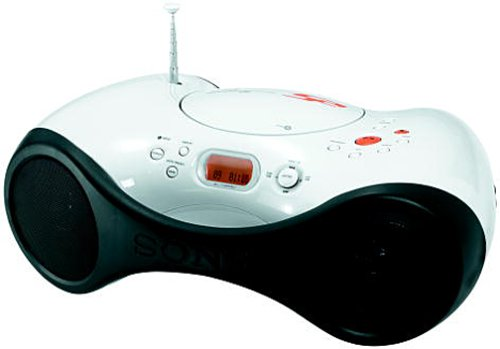 Sony ZS-X3CP S2 Sports CD/Radio Boombox (White) (Cd Player Waterproof Sony)